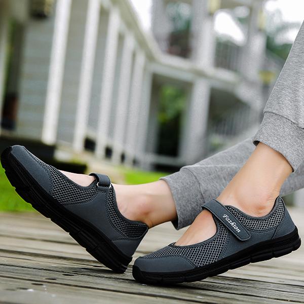 Soft Base Loop Closure Canvas Shoes - Grey