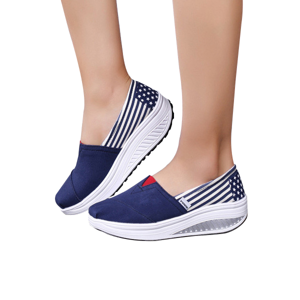 Casual Style USA Blue Sneakers For Women