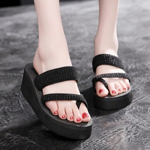 Thick Sole Platform Beach Wear Casual Slippers