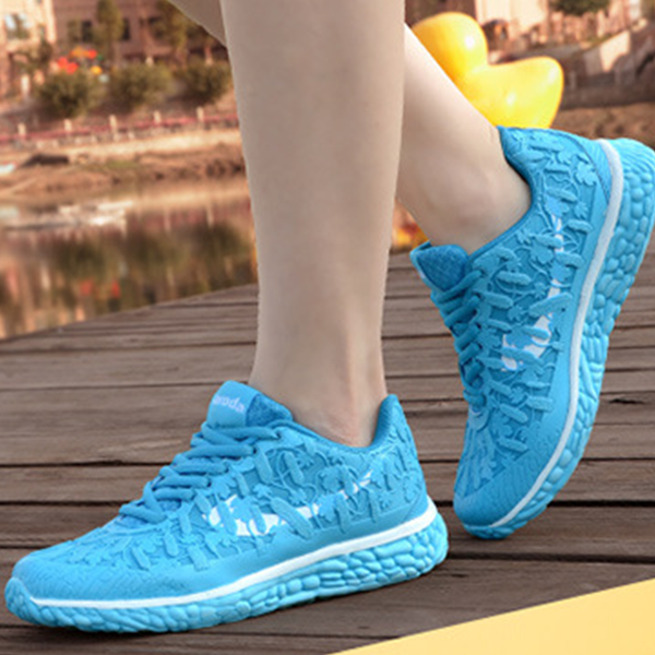 Latest Sneakers Casual Fluorescent Female Sports Sky Blue