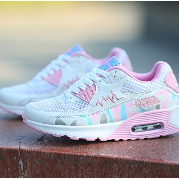 High Top Fashion Sneakers Women Trainers Footwear White Pink