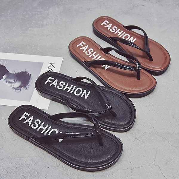 Casual Wear Summer Collection Strap Slippers - Brown