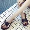 Buckle Style Flat Summer Wear Slippers - Black