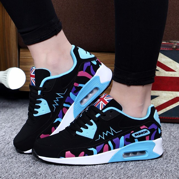 New Summer Fashion Women Flats Out Door Walk Flats Shoes Black Blue