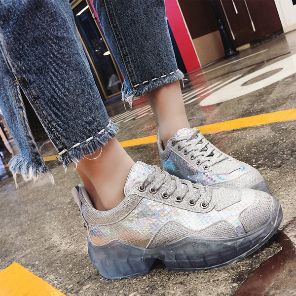 Holographic Patchwork Party Wear Club Sneakers