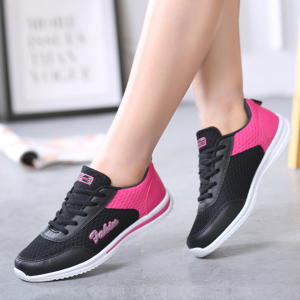 Flat Bottom Casual Black Light Breathable Shoes