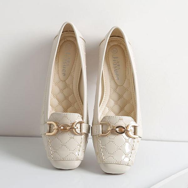 Shiny Soft Bottom Slip On Designers Shoes - White