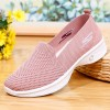 Mesh Hollow Canvas Breathable Summer Shoes - Pink