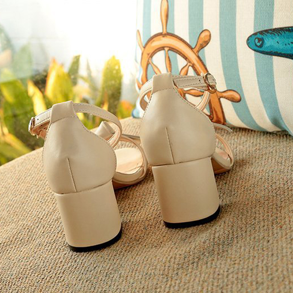 Bow Strap High Heel Party Sandals - White