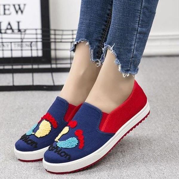 Thread Art Flat Wear Sneakers - Multicolor
