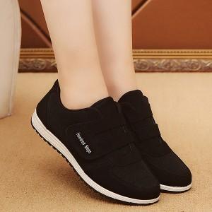 Loop Closure Soft Base Casual Sneakers - Black