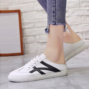 Flat Soft Sole Sports Wear Open Sneakers - Black