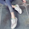New Women Casual Lace-up Flats Breathable Mesh Shoes Green