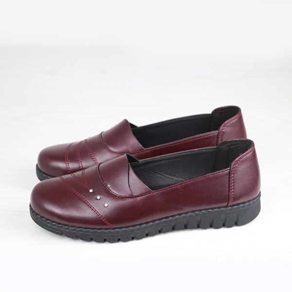 Inside Heal Comfortable Formal Burgundy Shoes