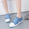 Polka Dotted Blue Flat Casual Shoes