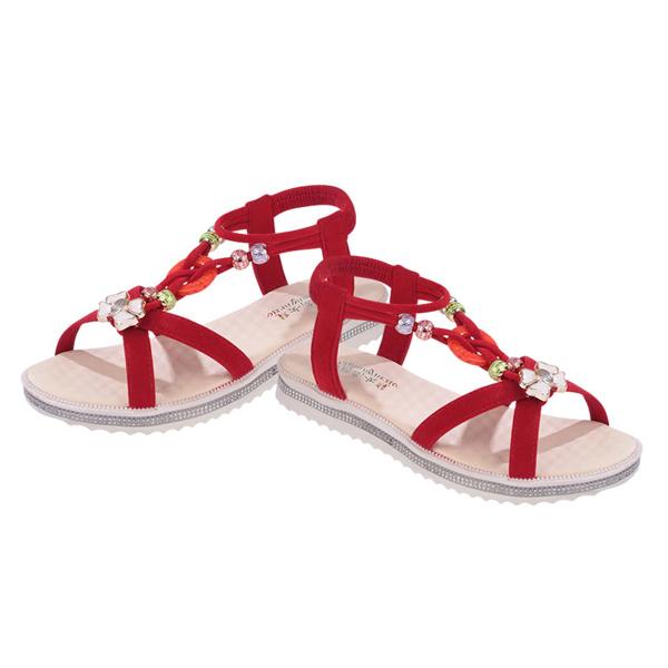 Bohemian Flat Red Summer Sandals