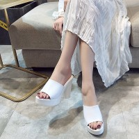 Summer Comfortable Fashion Big Heel Female Sandal - White