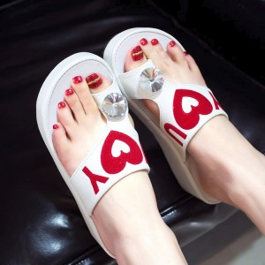 Love White Thick Bottom Party Sandals