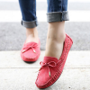Casual Flats Women Loafers Summer Style Bowtie Shoes Red