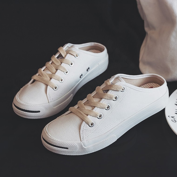 Summer Casual Student Shallow Mouth Sneakers - White