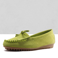 Comfy Green Moccasin Flat Sneakers