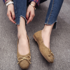 New Arrival Flat Pumps Style PU Leather Shoes Green