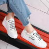 Laced Up Flat Casual Canvas Shoes - Black Lace