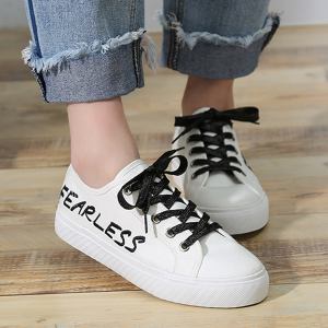 Women Summer Korean Fashion Flat Canvas Shoes Black White