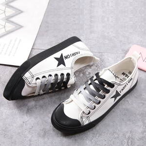 Star Black Contrast White Sneakers