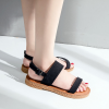 Flat Open Buckle Black Sandals Perfect for the Summer
