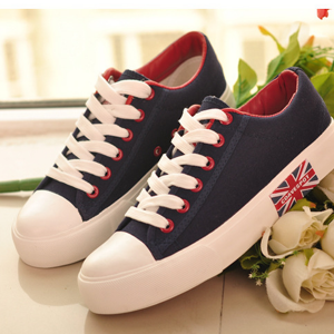 Trendy Summer Unisex Sneakers With Laces Blue