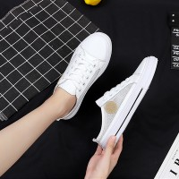 Slip On Canvas Sports Wear Open Sneakers - White