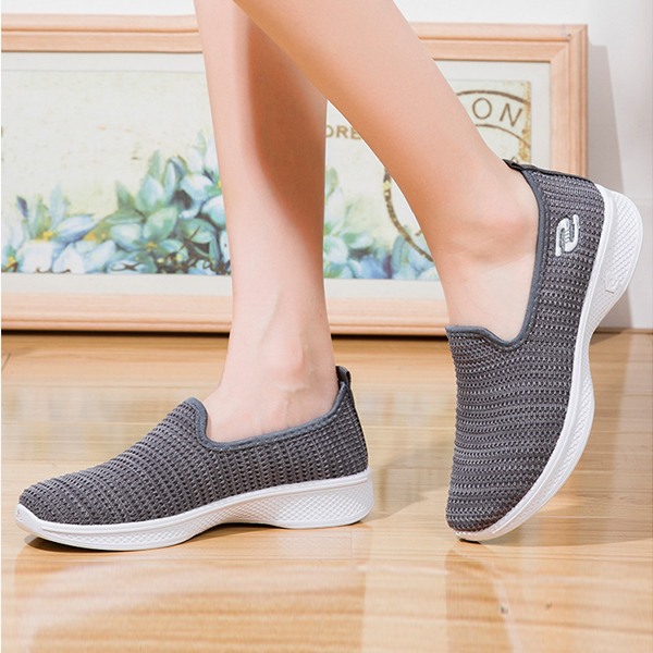 Soft Bottom Walking Comfortable Outdoor Shoes - Gray