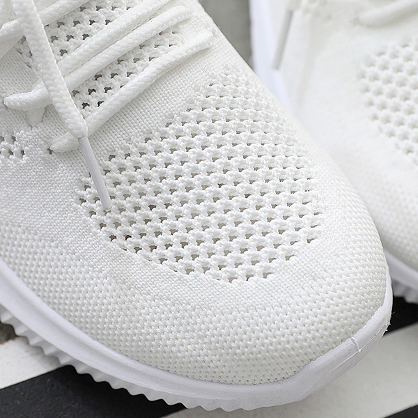 Breathable Casual Sports Wind Wild Shoes - White Black