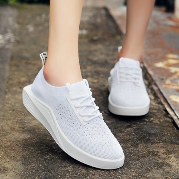 New Arrival Casual Korean Fashion Flat Shoes White