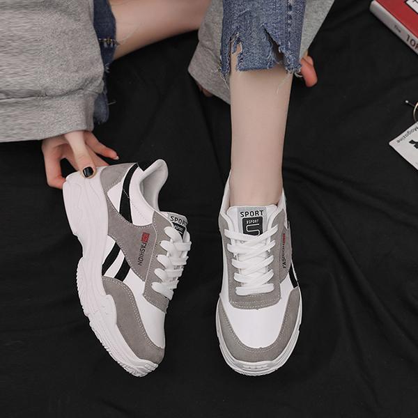 Thick Bottom Soft Base Running Gym Shoes - Black