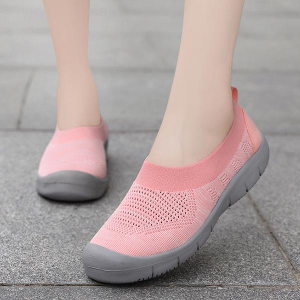 Soft Rubber Sole Running Canvas Women Casual Shoes - Pink