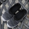 Soft Rubber Sole Running Canvas Women Casual Shoes - Black