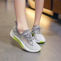 Light Weight Casual Running Sports Sneakers - Gray