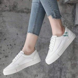 Flat Soft Bottom Students Casual Wear Sports Shoes - White