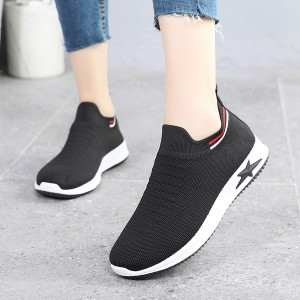 Slip On Casual Sports Wear Gym Running Shoes - Black