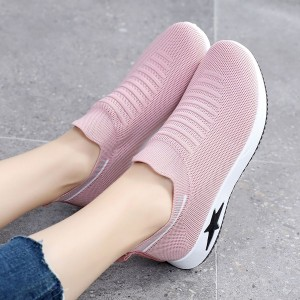 Slip On Casual Sports Wear Gym Running Shoes - Pink