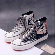 Eye Printed Long Laces Casual Student Wear Sneakers - White