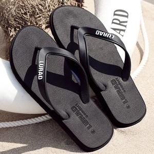 Foamic Rubber Casual Wear Outdoor Flip Flop - Black