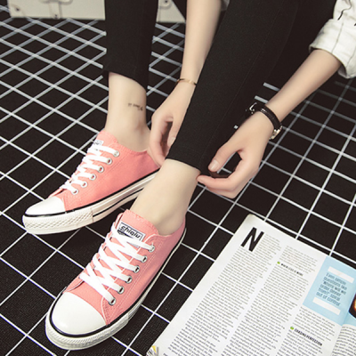 Unisex Male Female College Students Canvas Summer Shoes Pink