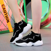 Thick Bottom Running Canvas Sports Shoes - Black