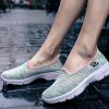 Mesh Pattern Colorful Rubber Bottom Sneakers