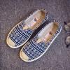Boho Prints Canvas Comfort Wear Flat Shoes - Blue