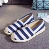 Flat Canvas Casual Wear Shoes - Blue Stripes