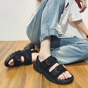 Trendy Buckle Strap Casual Flat Unisex Sandals
